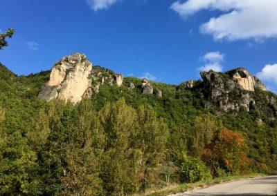 Promenade vue sur la corniche du Larzac