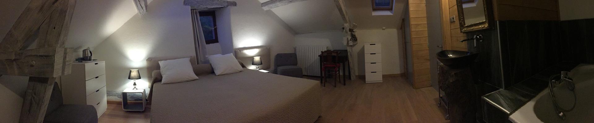 Chambre d'hôte Donjon à Nant, vue panoramique
