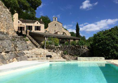 Chambres d'hôtes, piscine vue sur la Chapelle